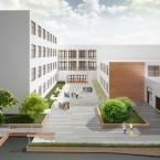 Projekt strefy wejściowej do Szkoły Podstawowej nr 17